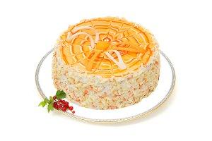 Торт «Творожно-абрикосовый»